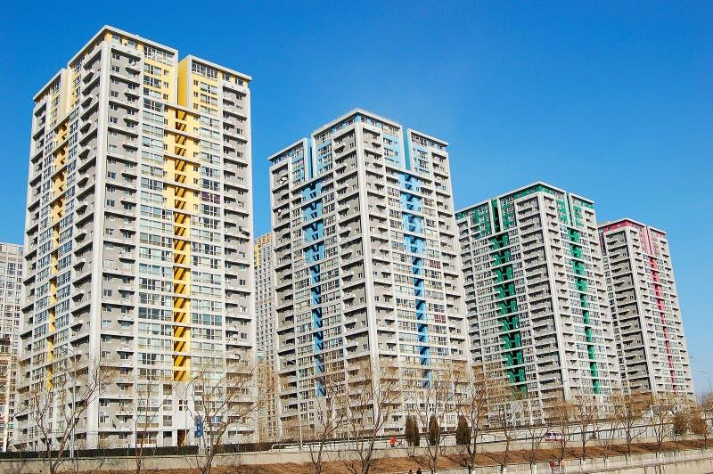 Flatgebouwen stock foto