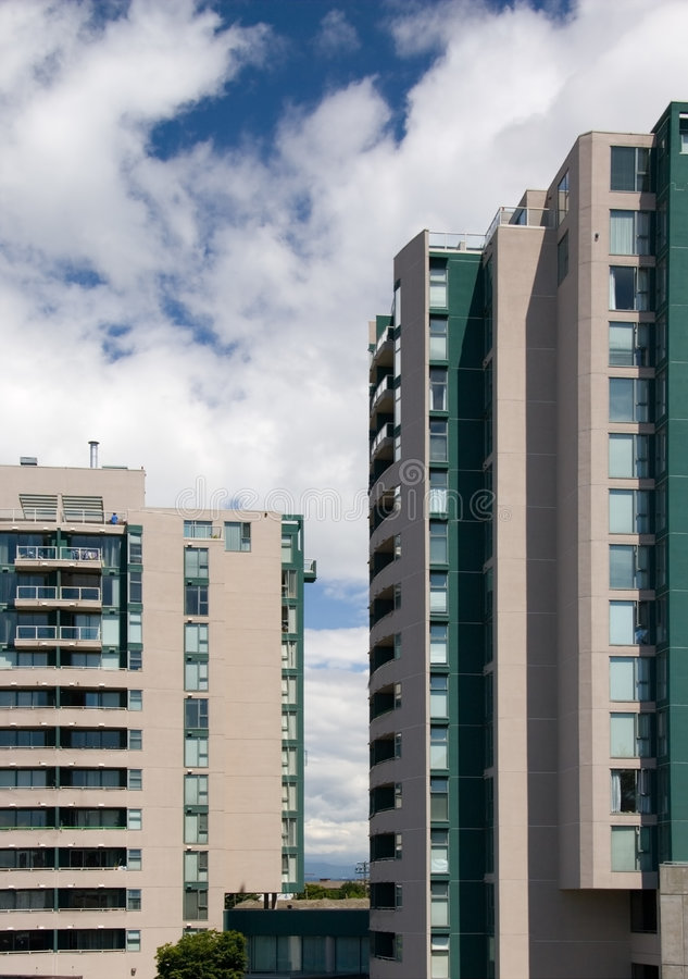 Flatgebouwen stock afbeelding