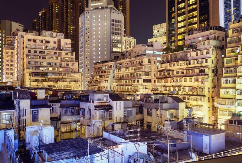Flatgebouwen in Hongkong royalty-vrije stock foto