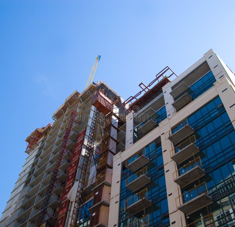 Flatgebouwen met koopflats in Toronto stock foto's