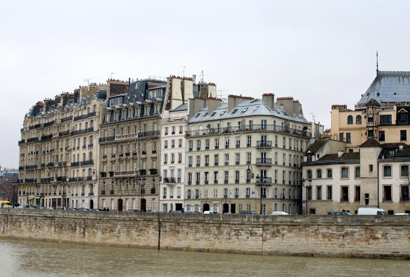 Flatgebouwen, Parijs, Frankrijk royalty-vrije stock afbeeldingen