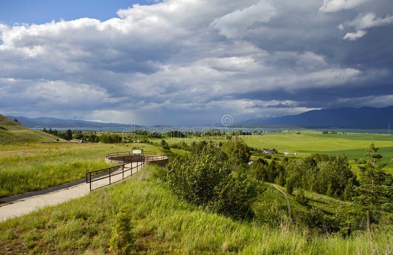 Flathead λίμνη και Polson στοκ εικόνες με δικαίωμα ελεύθερης χρήσης