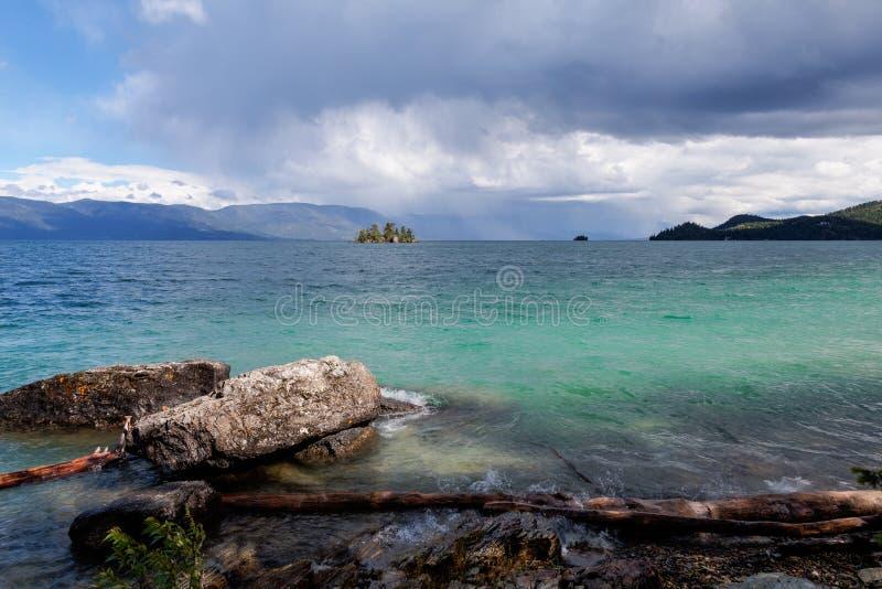Flathead λίμνη στη Μοντάνα στοκ φωτογραφία με δικαίωμα ελεύθερης χρήσης