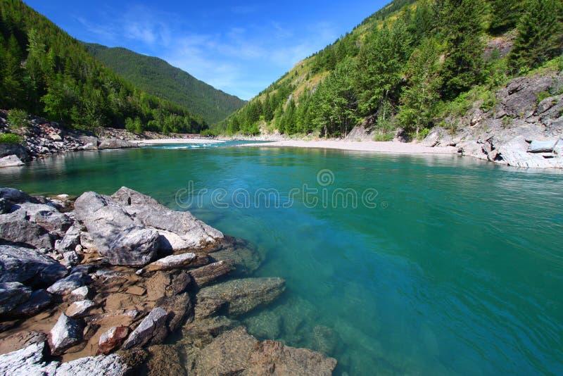 flathead ποταμός ορμητικά σημείων & στοκ φωτογραφία