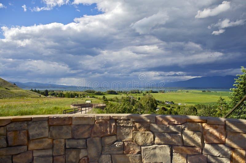 Flathead Jeziorny Montana, usa obraz royalty free