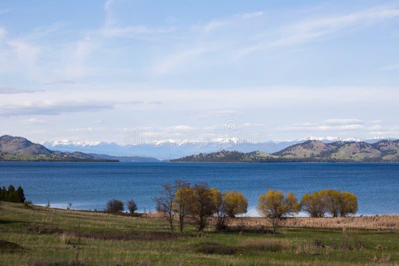 Flathead jezioro w Montana zdjęcie royalty free