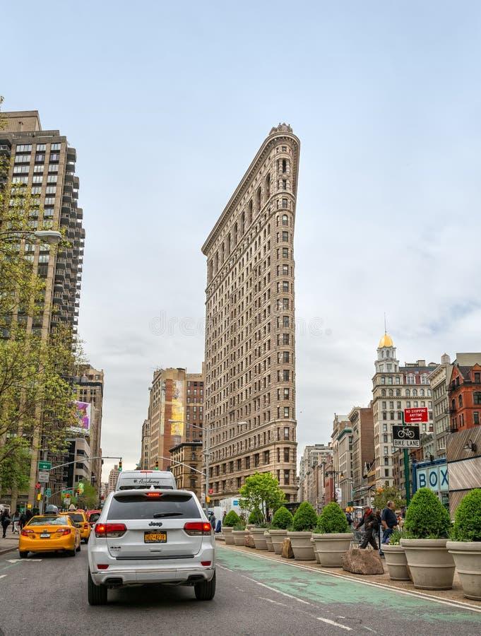 Flatiron budynek przy NYC fotografia royalty free