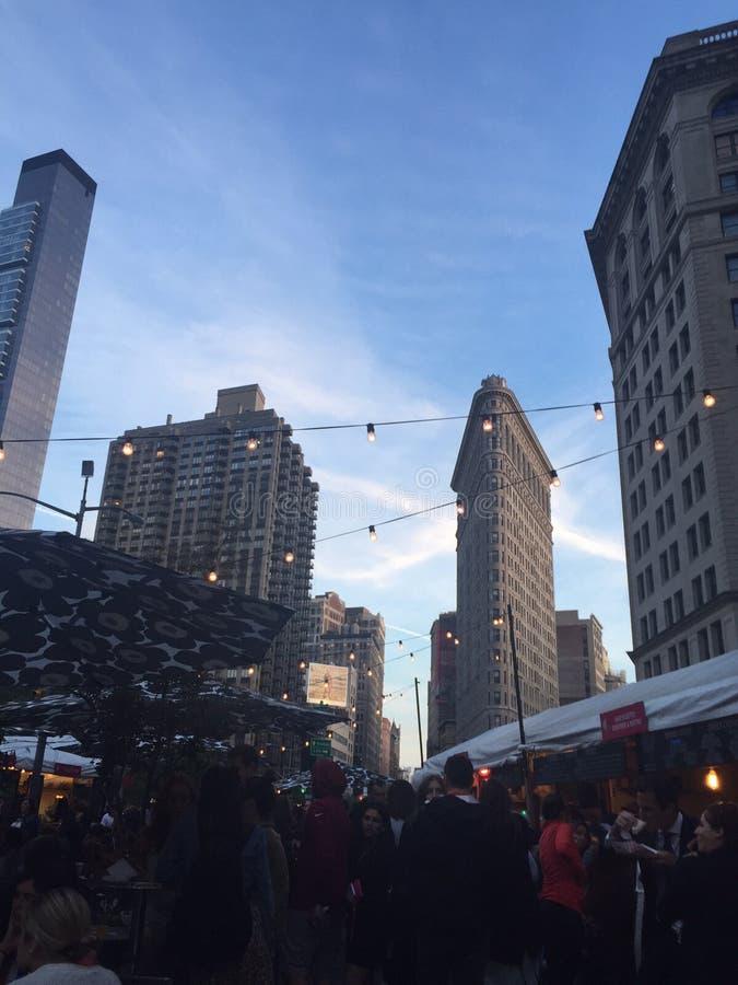 Flatiron budynek w środku miasta NY obraz stock