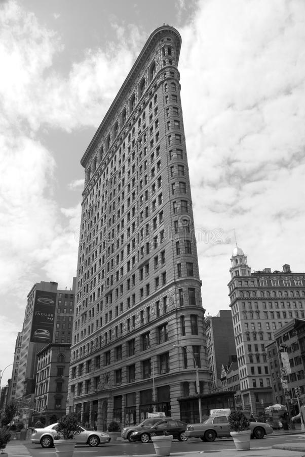 Flatiron Building. On 23rd Street in New York City. Classic landmark building as seen from the street stock photography