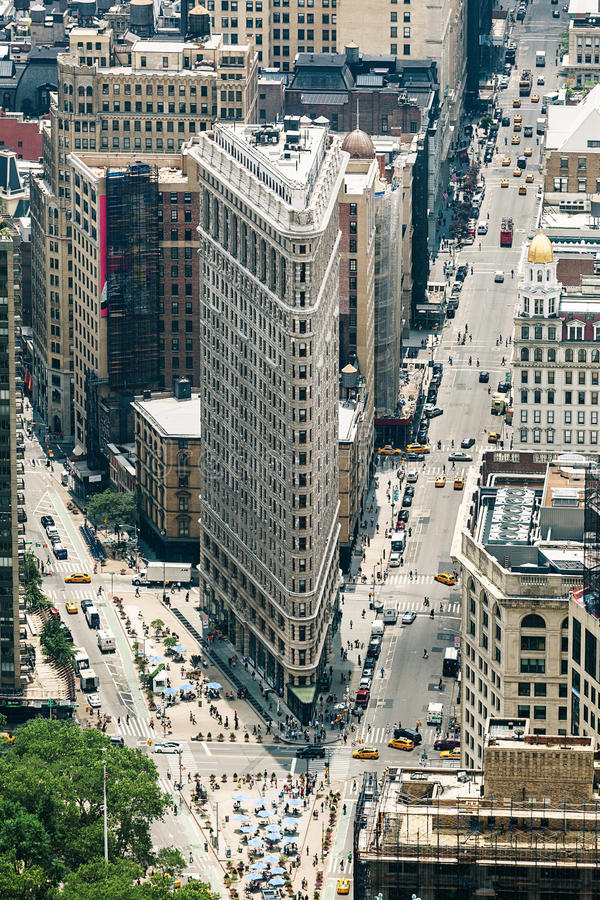 Flatiron Building designed by Chicago's Daniel Burnham royalty free stock image