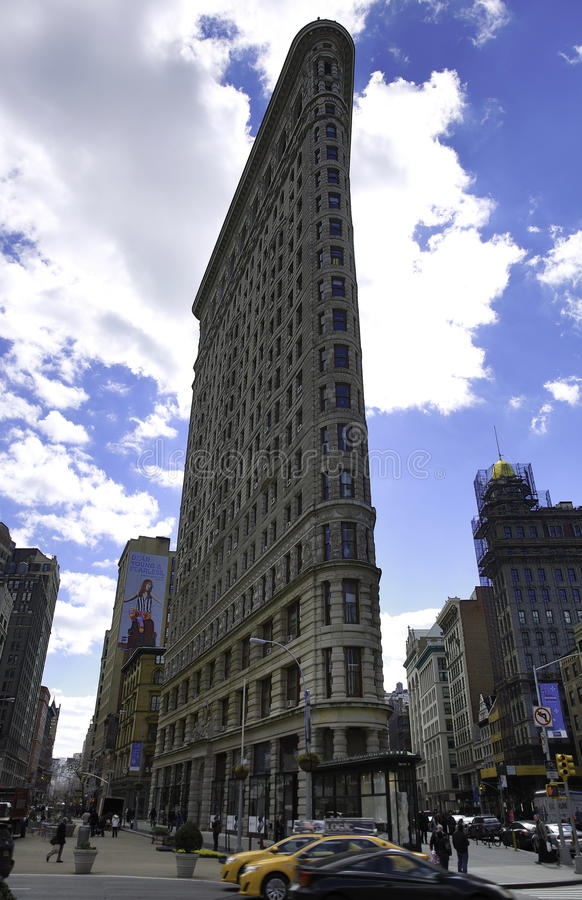 The Flatiron Building (or Fuller Building). The Flatiron Building (or Fuller Building, as it was originally called) is located at 175 Fifth Avenue in the borough royalty free stock photography