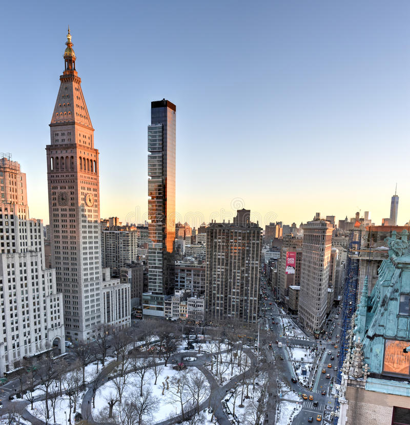Sunset Park Apartments: Flatiron Building And Madison Square Park Editorial Image