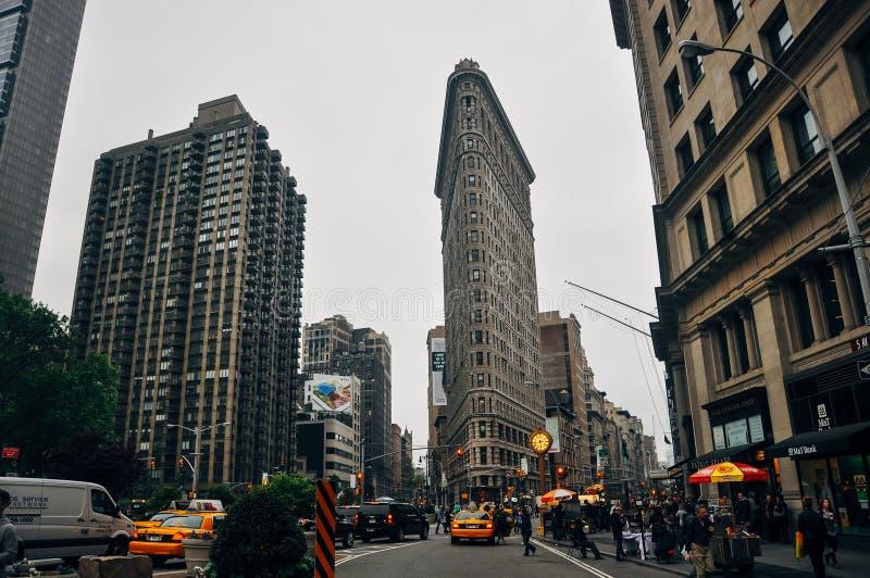 The Flatiron Building in Manhattan. royalty free stock photos