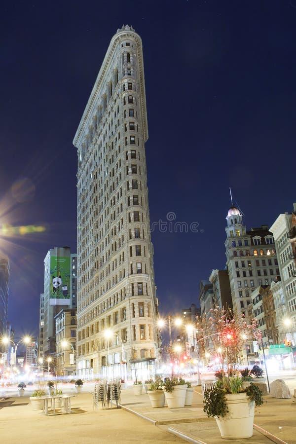 Flatiron Building New York City at night royalty free stock images