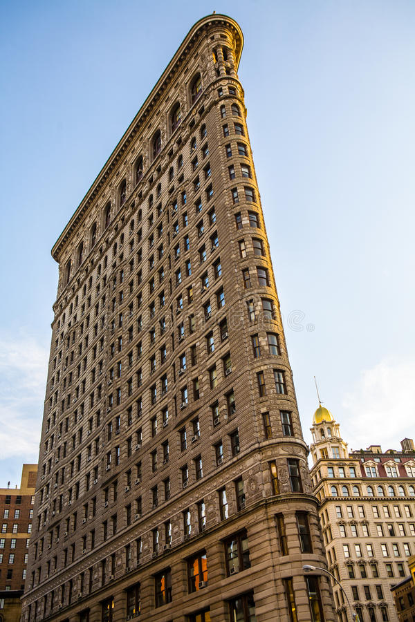 Flatiron Building. The Flatiron Building, originally the Fuller Building, is located at 175 Fifth Avenue in the borough of Manhattan, New York City, and is royalty free stock image