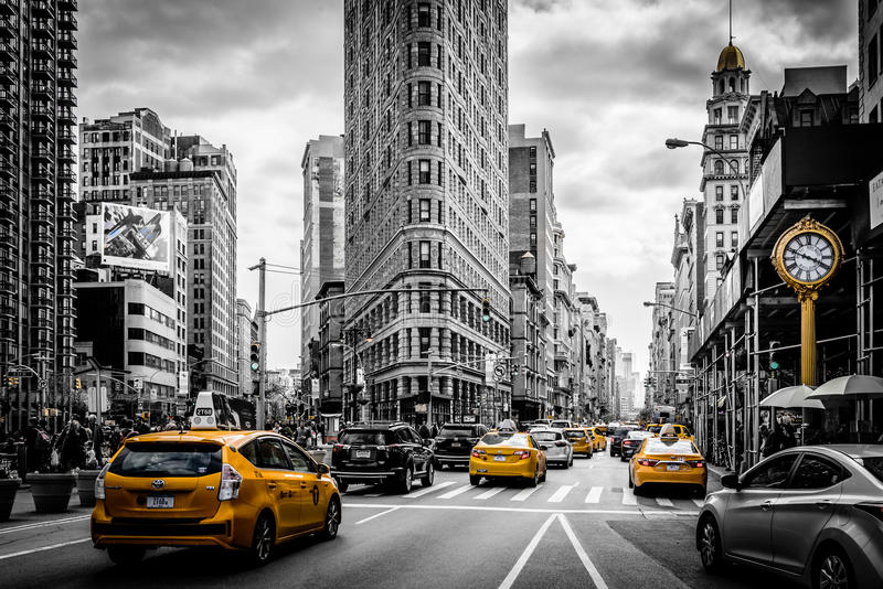 Black And White Photo Yellow Cab