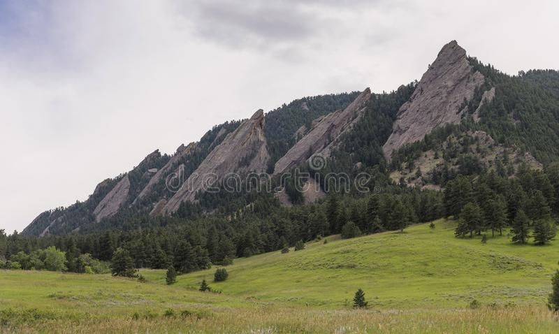 Flatirons, Colorado. View of the Flatirons, near Boulder, Colorado, United States royalty free stock images