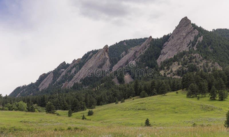 Flatirons, Kolorado obrazy royalty free