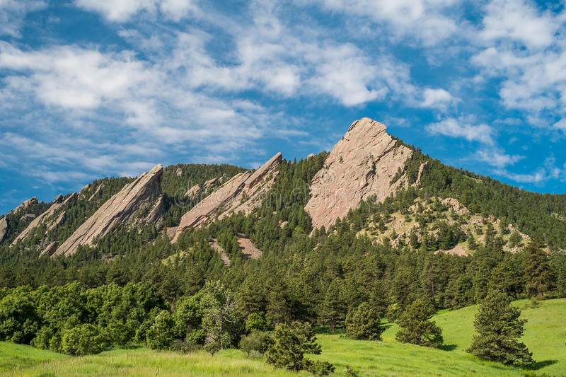 Flatirons on a Sunny Day stock photography