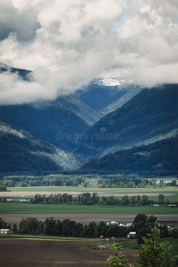 Flatlandie e montagne immagine stock