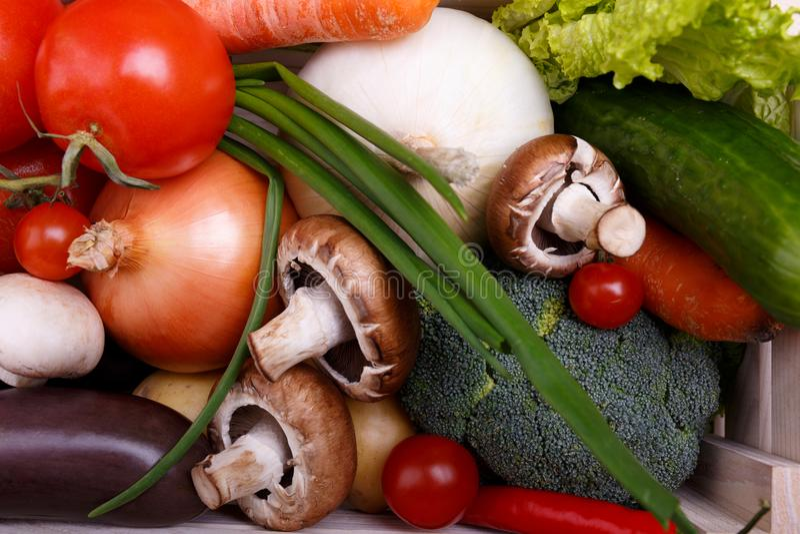flatlay的菜 食物健康成份 有机农夫菜 库存照片