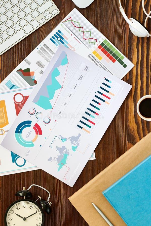 Flatlay zaken stock fotografie