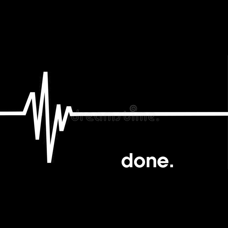 Flatline沉重,EKG,做 免版税库存照片