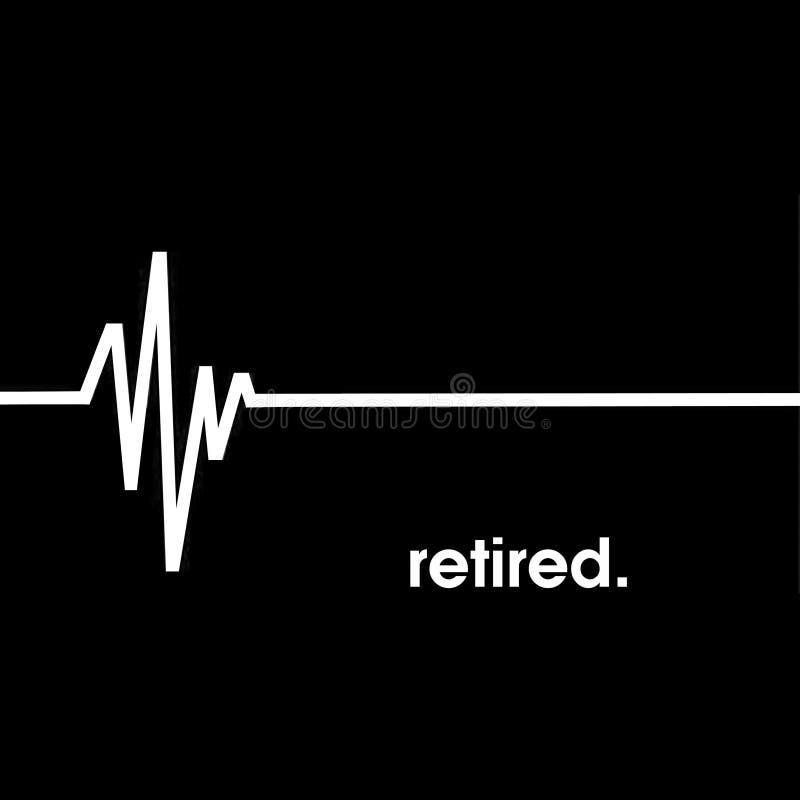 Flatline沉重,EKG,退休 库存照片