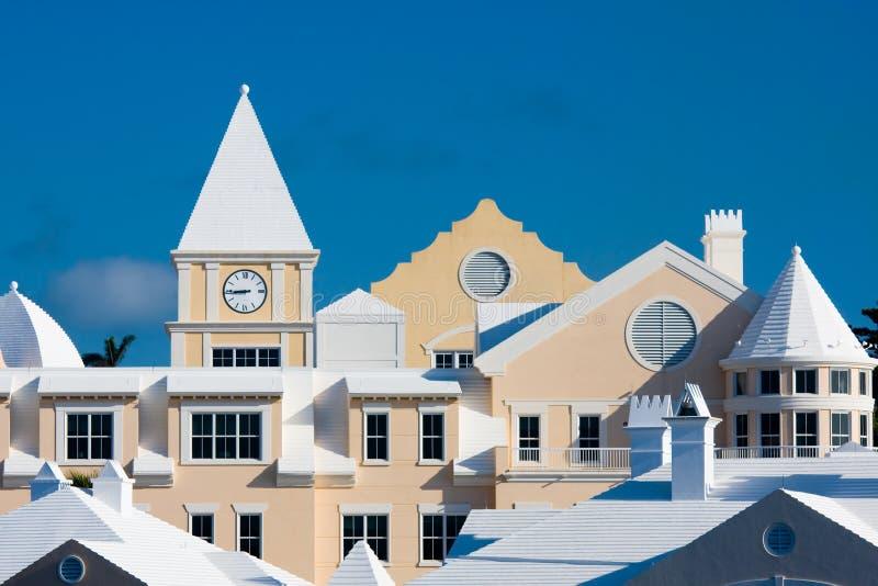 Flats in de Bermudas royalty-vrije stock afbeeldingen
