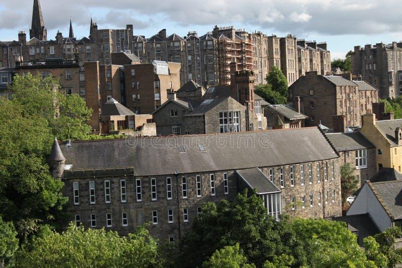 Flats in Edinburgh city stock photos