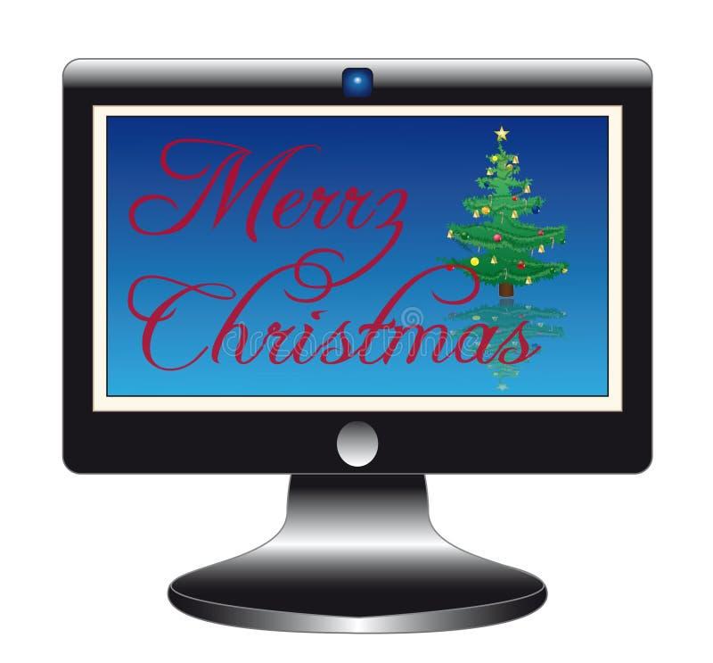 flatscreen Χριστουγέννων σύνθημα στοκ εικόνα