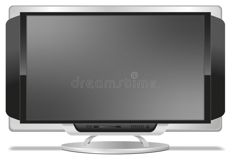 Flatscreen TV. Illustration of a high-tech flatscreen TV