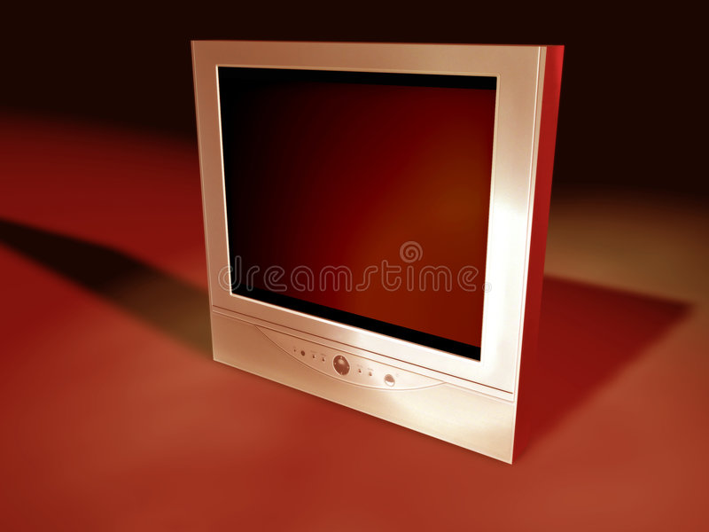 Flatscreen TV 3 royalty free illustration