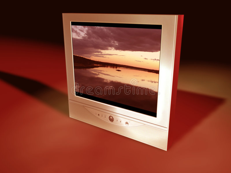 Flatscreen TV vector illustratie