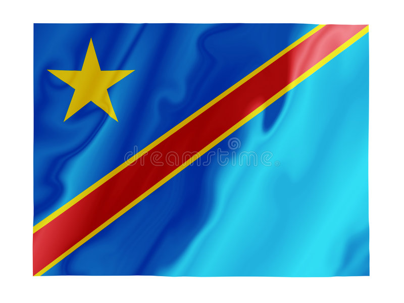 Flattern Dr der Kongo lizenzfreie abbildung