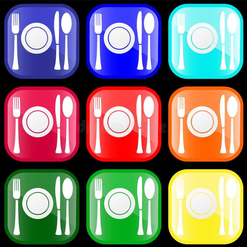 flatware κουμπιών εικονίδιο ελεύθερη απεικόνιση δικαιώματος