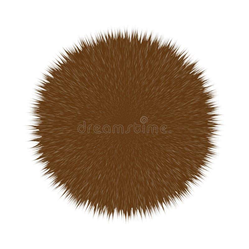 Flaumiges Haar Pom Browns vektor abbildung