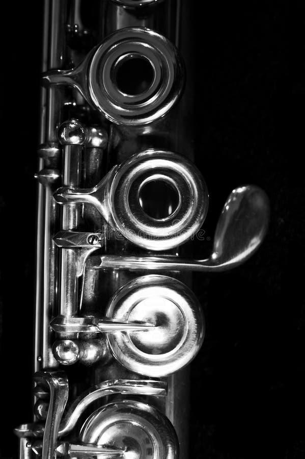 Flauta da música - fundo da música imagem de stock