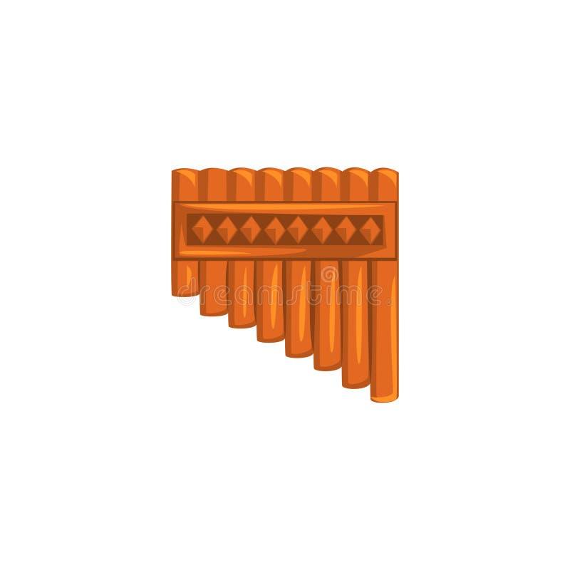 Flauta de bambú de la cacerola, ejemplo del vector del instrumento de viento de la música étnica en un fondo blanco libre illustration