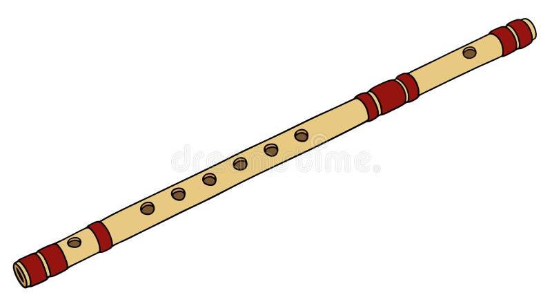 Flauta de bambu velha ilustração do vetor