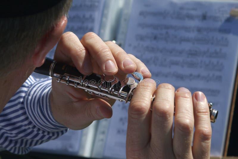 Flauta de flautim foto de stock