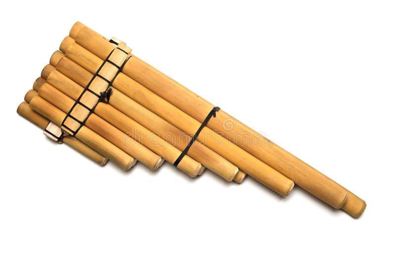 Flauta de madeira da bandeja imagens de stock