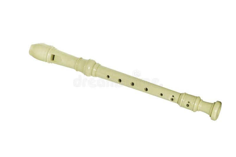 Flauta do bloco isolada foto de stock