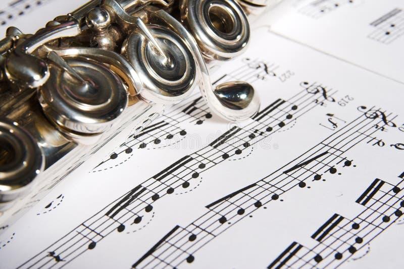 Flauta - fondo de la música fotografía de archivo libre de regalías