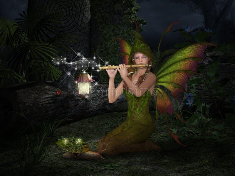A flauta mágica ilustração stock