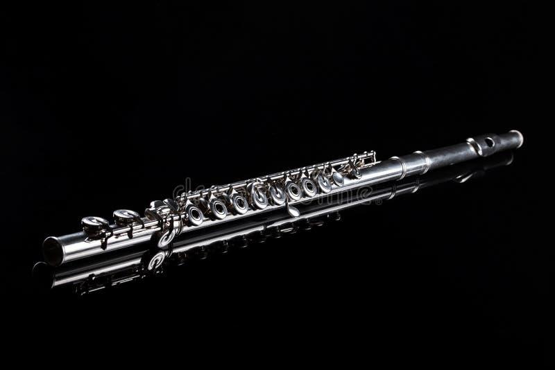Flauta no fundo preto fotos de stock