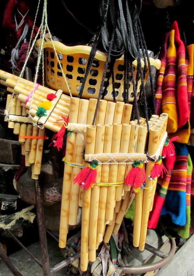 Flauta suramericana fotos de archivo