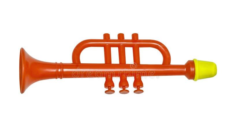 Flauta vermelha, brinquedo para crianças foto de stock royalty free