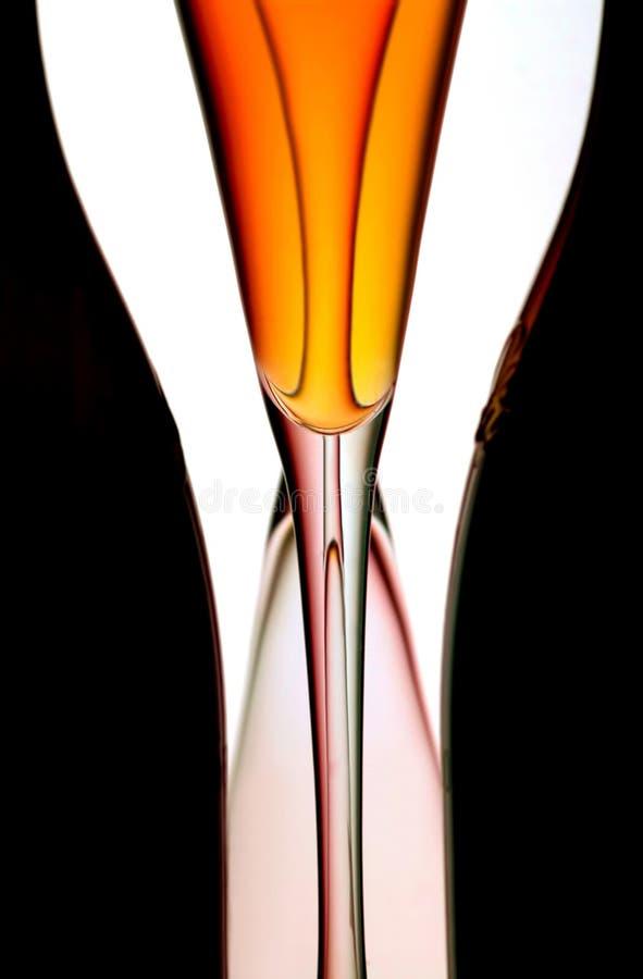 Flautas & frascos de Champagne fotografia de stock