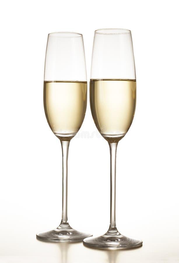 Flautas de champán fotos de archivo libres de regalías
